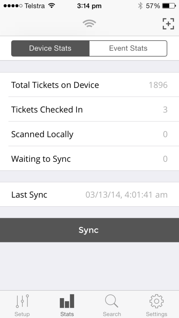 Live Onsite Scan Stats - Ticketbooth Support