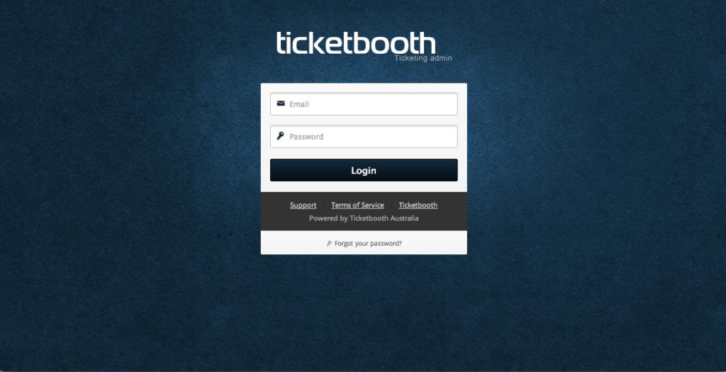 Ticketbooth Admin Login