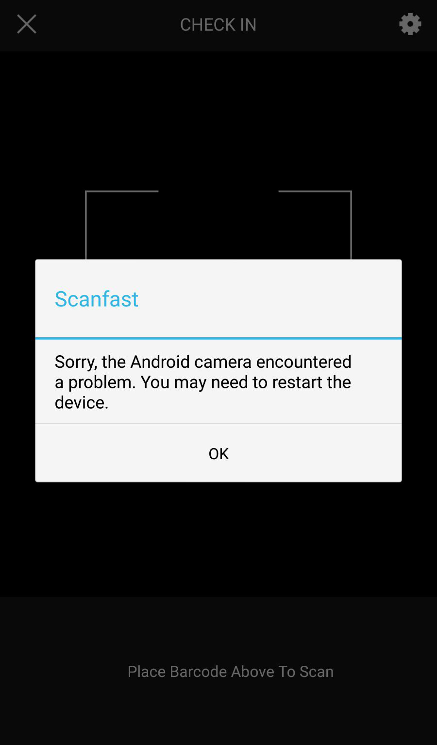 Scanfast: Camera not working on Android phones? - Ticketbooth Support